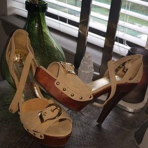 Taupe Platform Sandals